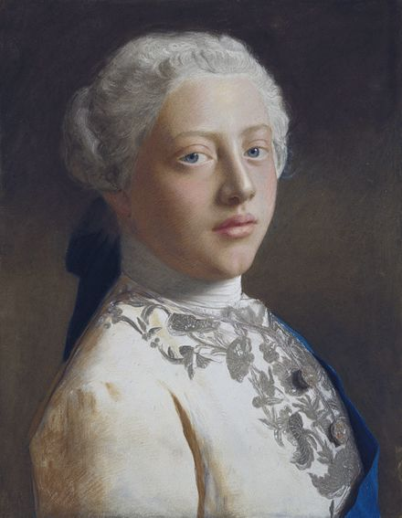 Pastel portrait of George as Prince of Wales by Jean-Etienne Liotard, 1754 George, Prince of Wales (1738-1820), by Jean-Etienne Liotard.jpg