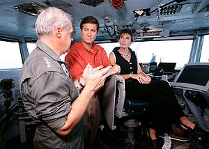 George Allen (American politician) - Governor Allen visiting the USS ''George Washington'' in July 1996.