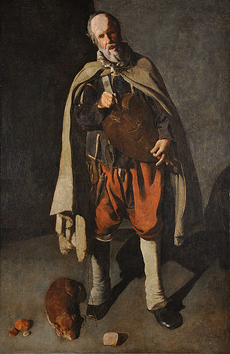 The Hurdy-Gurdy Player with a Dog - Image: Georges de La Tour 042
