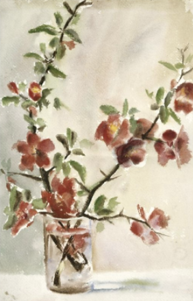 Georgia O'Keeffe, Untitled, vase of flowers, 1903 to 1905