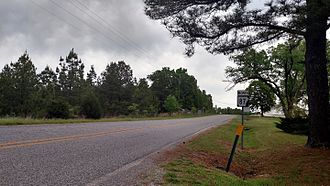 Arkansas Highway 87 - First Highway 87 reassurance marker north of the US62/US 412 intersection