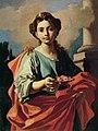Giacomo Cestaro - Un santo donne in possesso di un piatto di rose.jpg
