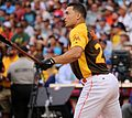 Giancarlo Stanton competes in semis of '16 T-Mobile -HRDerby. (28468367882).jpg