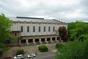 Slats Gill - Image: Gill Coliseum entrance