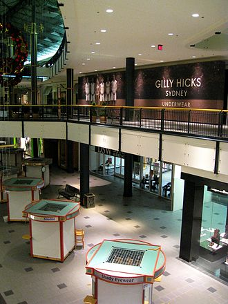 Gilly Hicks - The construction wall enclosing the store at Mall of America in 2007.