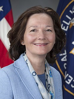 Gina Haspel, first female director of the CIA. (BA 1978) Gina Haspel official CIA portrait (cropped).jpg