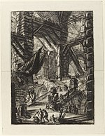 Giovanni Battista Piranesi - Le Carceri d'Invenzione - Second Edition - 1761 - 08 - The Staircase with Trophies.jpg