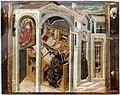 Giovanni di paolo, san girolamo appare a s. agostino nello studio, 1465 ca.,4.jpg