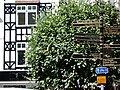 Glastonebury - Wegweiser, Fachwerkhaus.jpg
