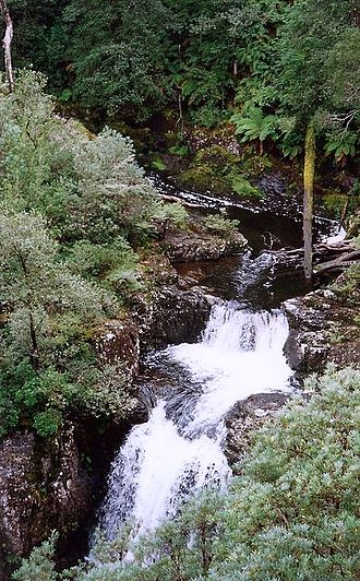 Gloucester River - Upper reaches of the Gloucester River, at Gloucester Falls, within Barrington Tops National Park, 1997.