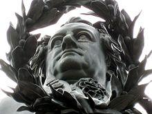 Johann Wolfgang von Goethe, Teilansicht des Goethe-Schiller-Denkmals in Weimar, errichtet 1856/57 von Ernst Rietschel[315] (Quelle: Wikimedia)