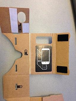 Google Cardboard - Fully unfolded