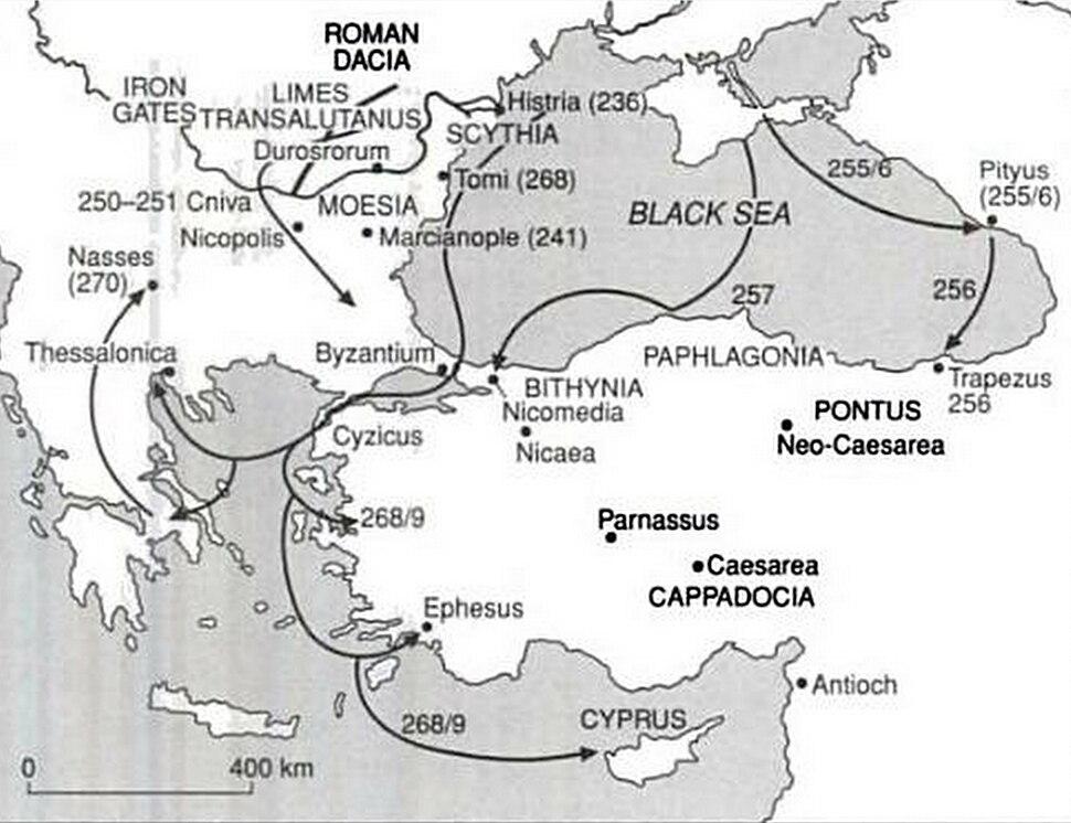 Gothic raids in the 3rd century