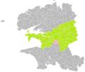 Gouézac (Finistère) dans son Arrondissement.png