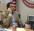 Gov. Malloy on phone with President Obama discussing Hurricane Sandy (8131727537) (1).jpg