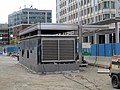 Government Center station emergency exit construction, October 2015.JPG