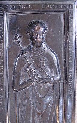 Grabplatte Rudolf von Rheinfelden Detail