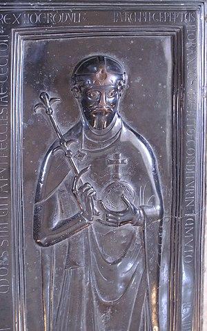 Rudolf of Rheinfelden - Bronze graveslab, Merseburg Cathedral