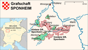 County of Sponheim - Location of the County of Sponheim