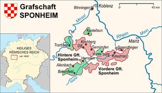 County of Sponheim - Location of the County of Sponheim