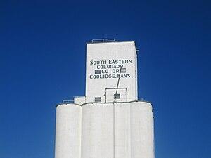 Coolidge, Kansas - Image: Grain elevator, Coolidge, KS IMG 5815