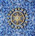 Grand Trianon - Expo fleurs - Lustre et tissu « Trianon de porcelaine ».jpg