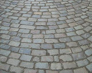 Sett (paving) rectangular stone used in paving roads and walkways