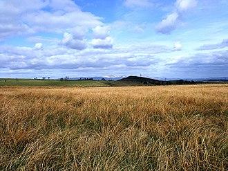 Maeatae - Myot Hill with the Ochils on the horizon