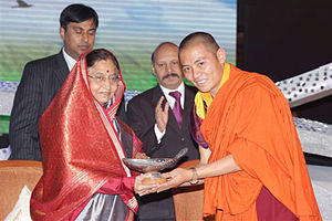Gyalwang Drukpa - Green Hero Award for the Gyalwang Drukpa, received on his behalf by Drukpa Thuksey Rinpoche