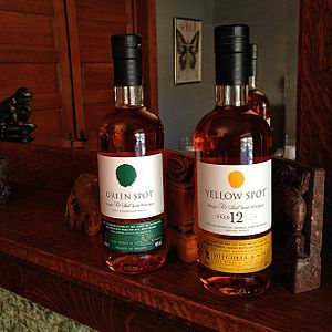 Single pot still whiskey - Image: Green Spot and Yellow Spot Irish Whiskey