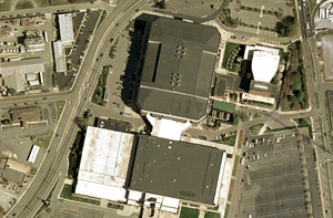 Greensboro Coliseum Complex - Ariel view of the complex in 2007
