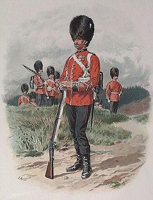 Grenadier Guards - Illustration of a Grenadier Guard, 1889