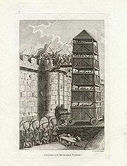 Medieval English siege tower.