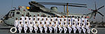 Group Photograph with 38 individual officers and sailors and representatives from six ashore and six afloat units during the Naval Investiture Ceremony held on board Indian Naval Ship Viraat at Naval Dockyard Mumbai.JPG
