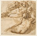 Group of Six Reclining Nude Women (Nymphs Bathing) (recto); Sketch of a Leg (verso) MET DP812239.jpg