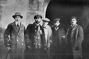 Adam Koc - A group of Kraków soldiers from the conspiracy Union of Active Struggle. Adam Koc alias Witold first from left