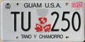 Guam license plate 2012 TU 250.png