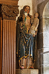 The Virgin Mary with child. A statue in the Saint Anne funeral chapel. Part of the Saint Anne altarpiece