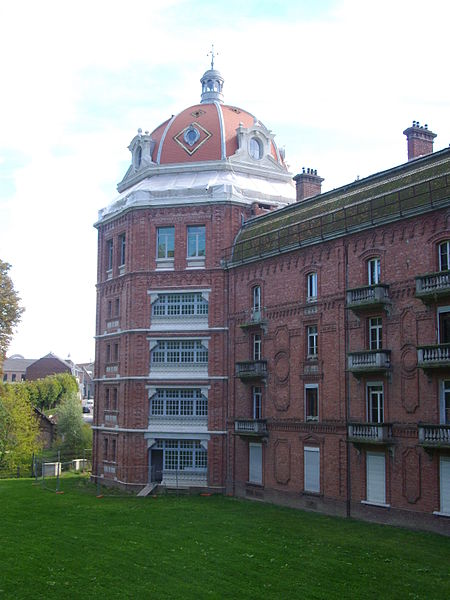 """""""Familistère"""" of Guise (Aisne, France): eastern wing of the social palace, north-east tower"""