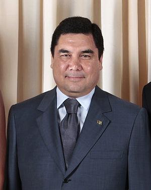 Gurbanguly Berdimuhammedov with Obamas cropped.jpg