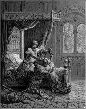Ninth Crusade - Edward I kills his attempted assassin.