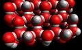 H-Brücken führen im Eis zu regelmäßigen Anordnung im Eis-Meolekül (Kalottenmodell).png