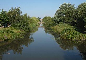 Allermöhe - Town canal in Neuallermöhe