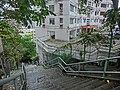 HK 北角半山 North Point Mid-Levels 雲景道 41 Cloud View Road Wan Tin Path outside stairs Apr-2014 view 雲景大廈 Glen Circuit.JPG
