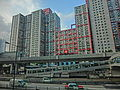 HK 觀塘道 Kwun Tong Road Millennium City phase 2 view Ngau Tau Kok Road Lotus Towers facade April 2013.JPG