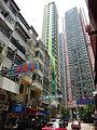 HK Sheung Wan 38 Queen's Road West view Queen's Terrace exterior July-2015 DSC Medal Court shop sign.JPG