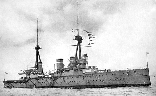 HMS Invincible (1907) British Battleship