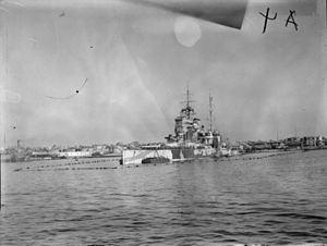 Raid on Alexandria (1941) - Image: HMS Queen Elizabeth after the modernisation