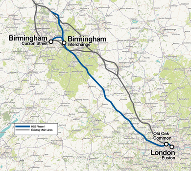Hs2 Detailed Map High Speed 2   Wikipedia Hs2 Detailed Map