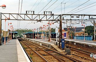 Hackney Downs railway station - Hackney Downs railway station in 1993